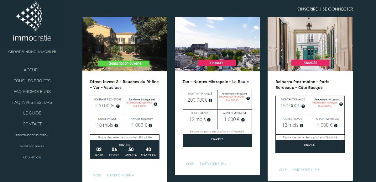 Immocratie Plateforme Crowdfunding Immobilier