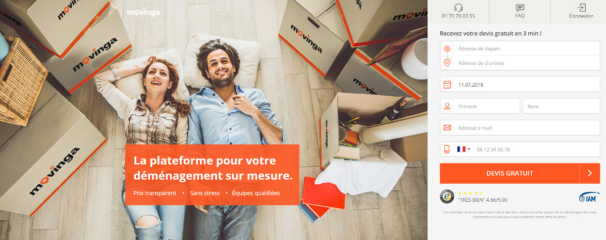 Movinga Demenagement Immobilier Homepage
