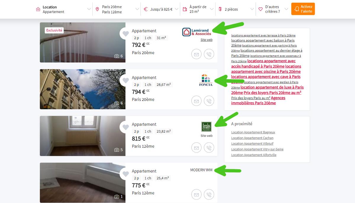 Seloger Portail Immobilier Optimiser Annonce Resultats Recherche