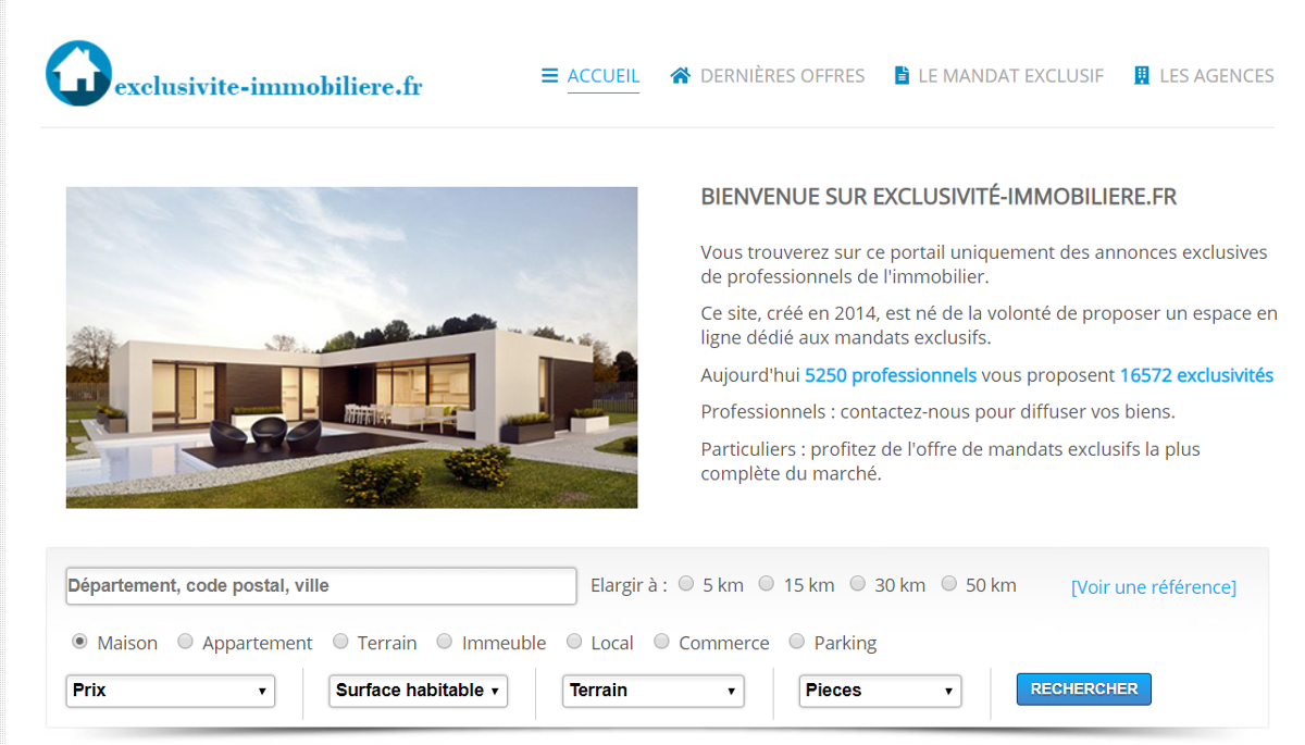 Exclusiviteimmobilier Portail Immobilier Homepage
