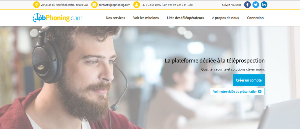 Jobphoning Prospection Telephone Immobilier Annuaire Professionnels