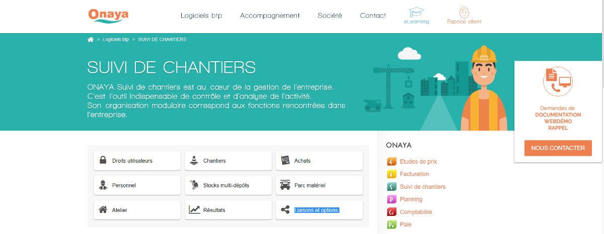 Onaya Gestion Chantiers Promotion Immobilier