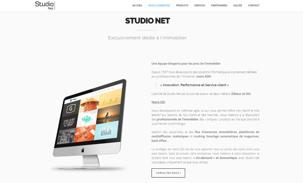 Studionet Logiciels Immobilier Ssii Annuaire Homepage