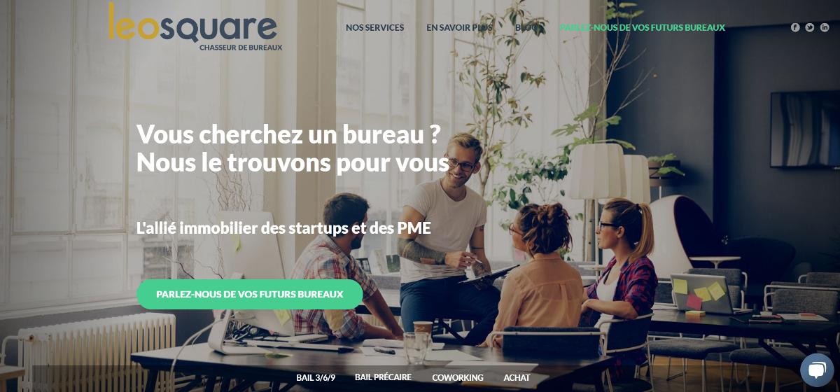 Leosquare Chasseurs Immobilier Bureaux Startup Immobilier