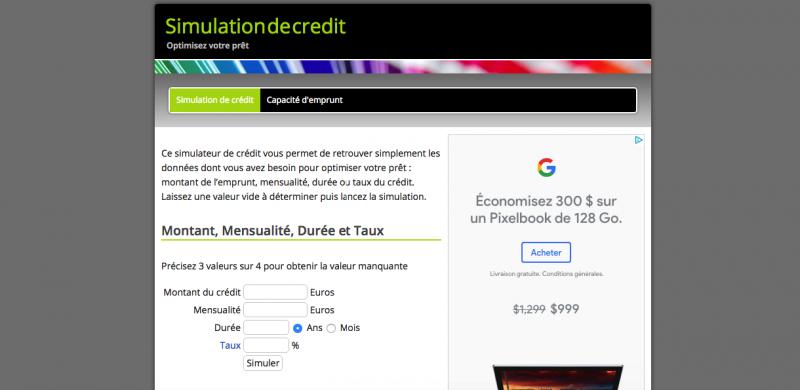 Simulationdecredit