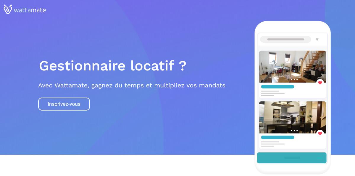 Wattamate Startup Immobilier Gestion Locatie Colocation