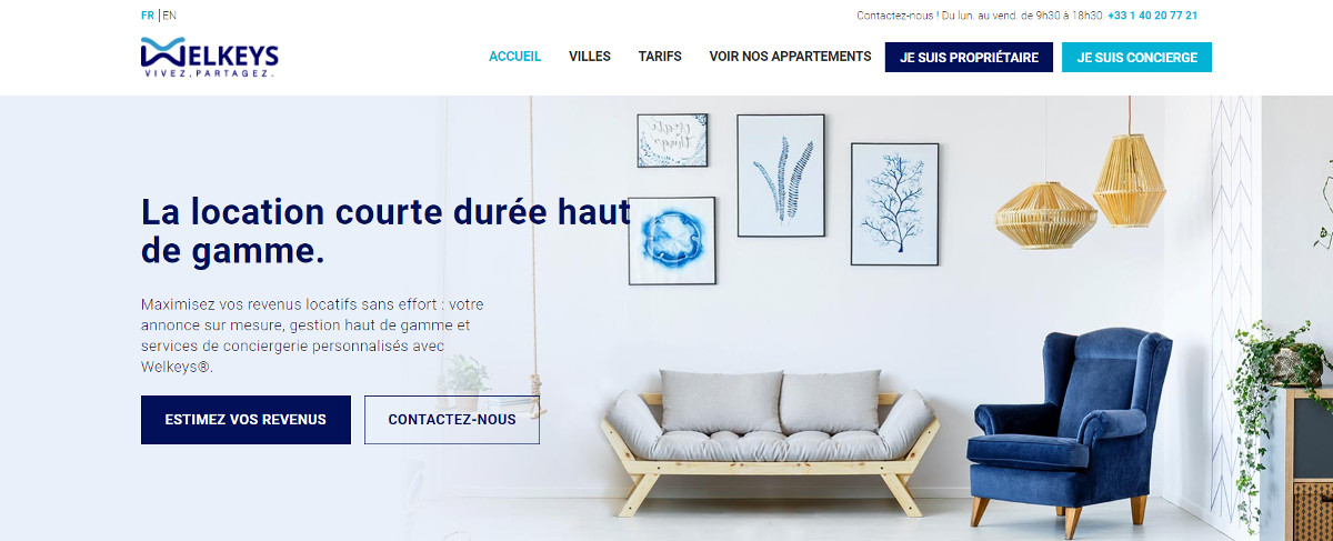 Welkeys Gestion Locations Courte Duree Airbnb Professionnels Immobilier Prestataires