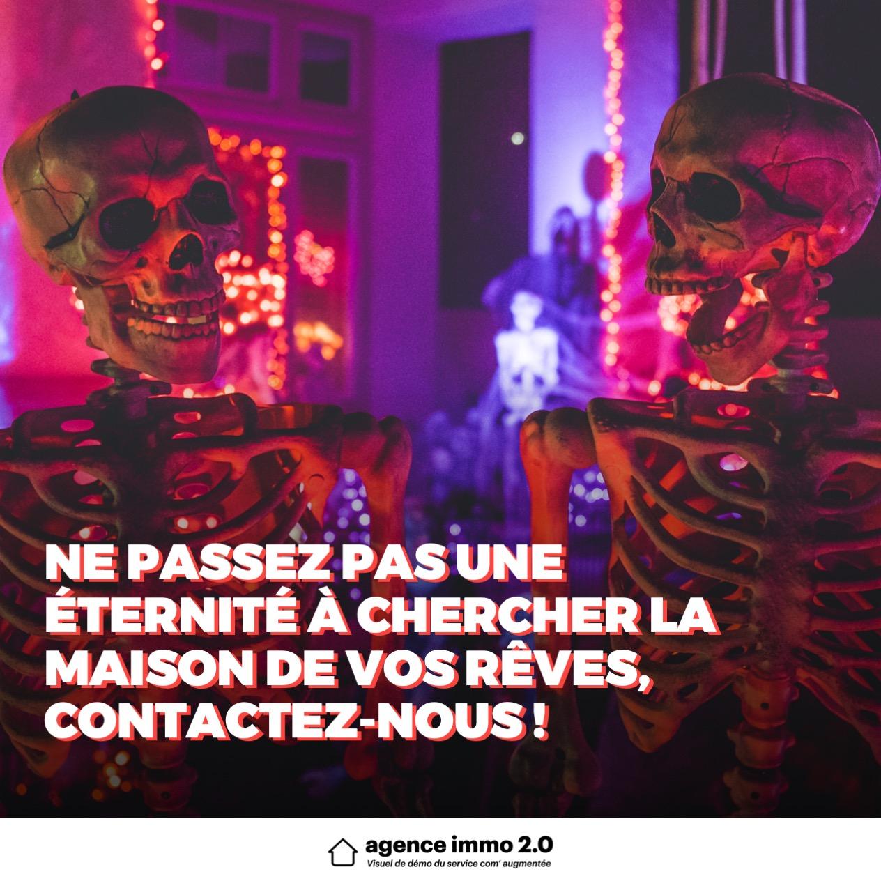 Template Immobilier Reseaux Sociaux Communication Halloween15