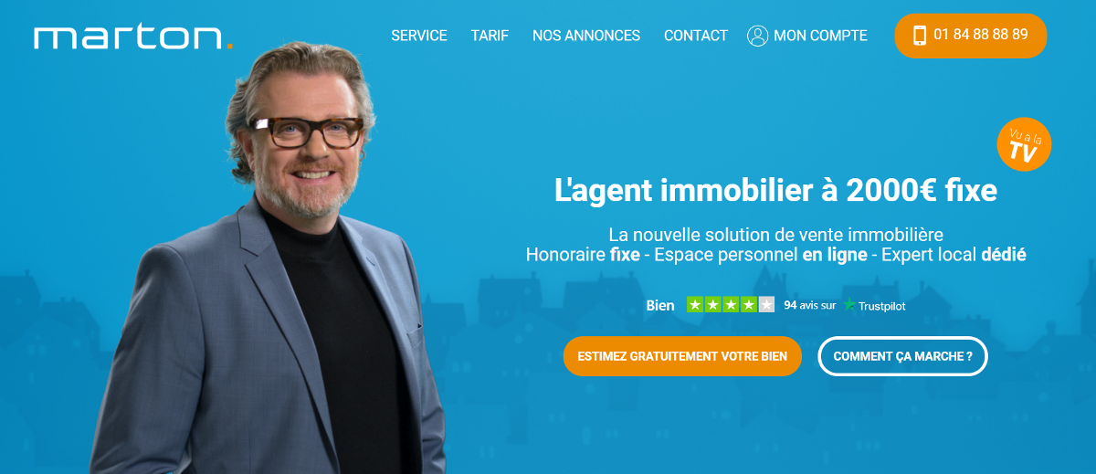 Marton Agence Immobiliere Prix Fixe Analyse Business Model Marketing