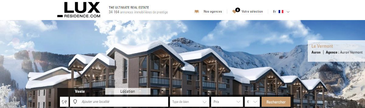 Lux Residence Page Accueil Portail Immobilier Luxe