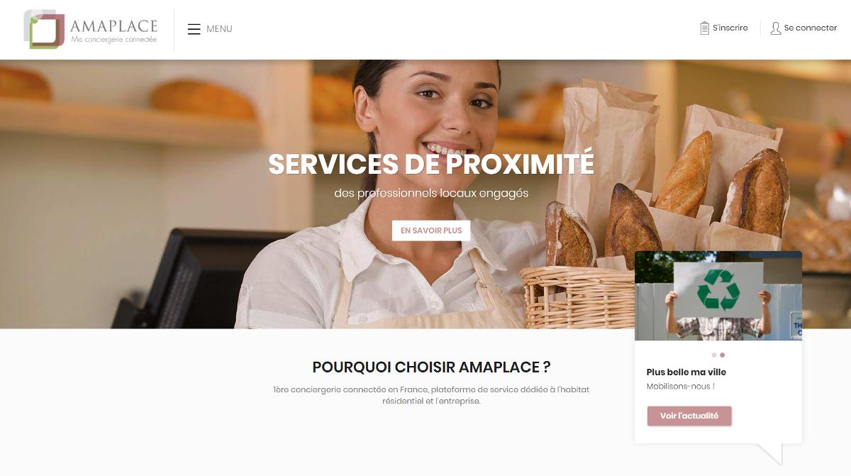 Amaplace Immobilier Tertiaire Startup Conciergerie