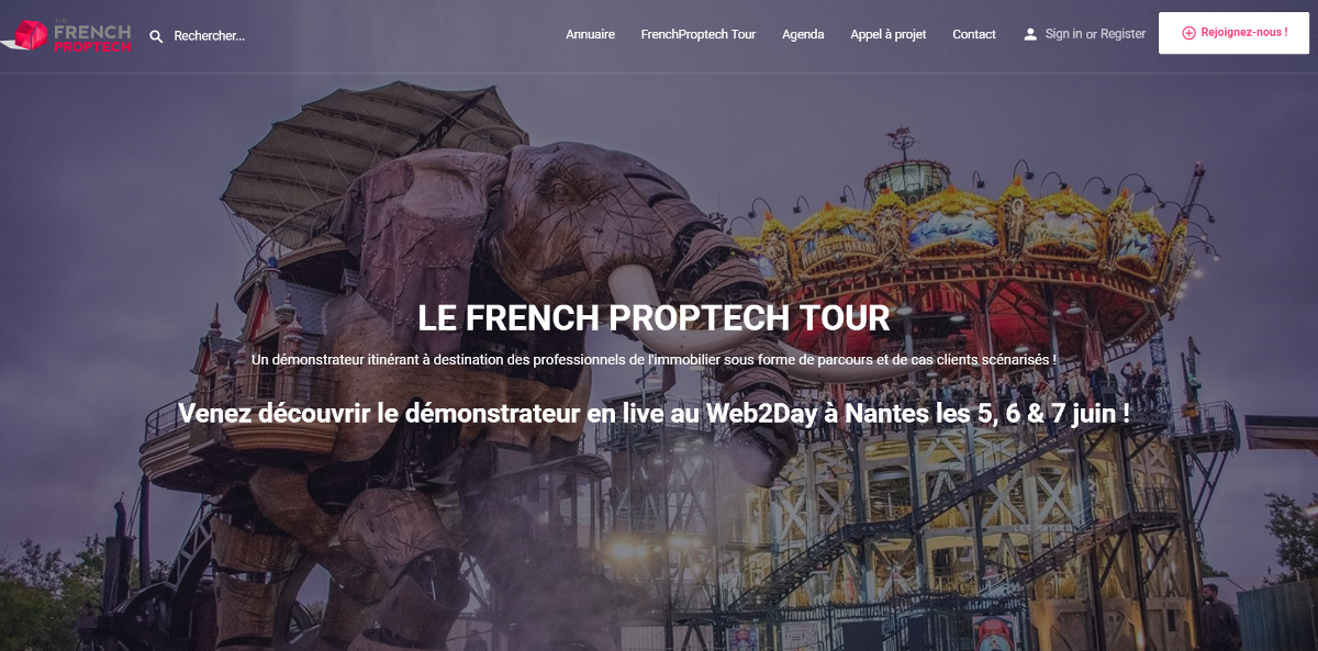 French Proptech Tour Homepage Illustration