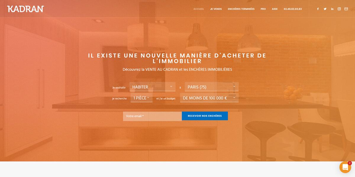 Kadran vente aux encheres startup proptech immobilier 2.0
