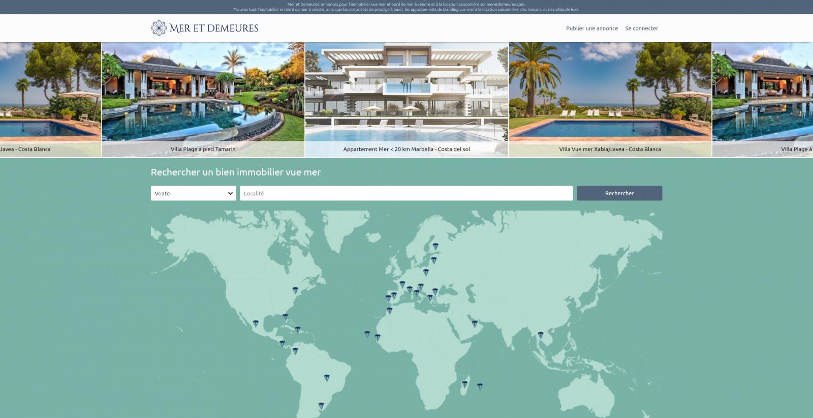 Mer Et Demeures Portail International Immobilier En Bord De Mer