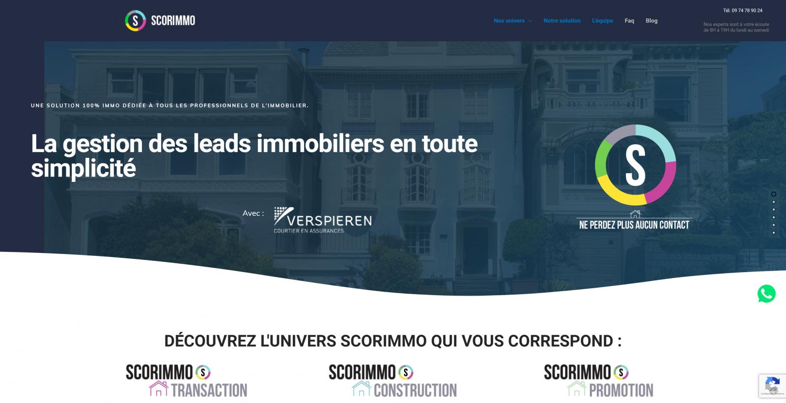 Scorimmo Gestion Des Leads Immobiliers
