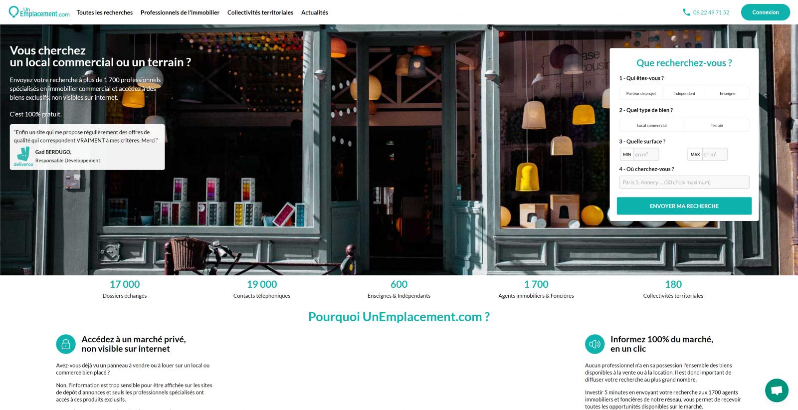 Unemplacement.com Le Meetic De L'immobilier Commercial