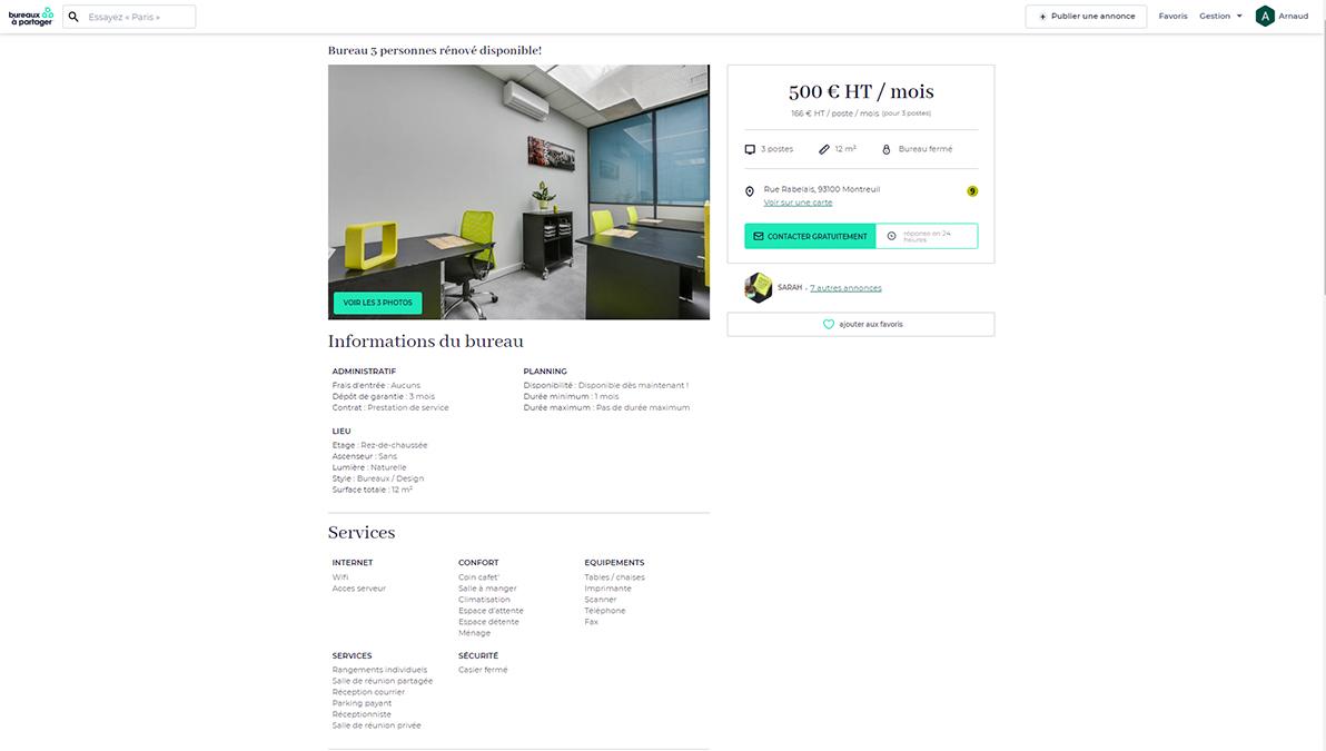 Bureaux A Partager Annonces Portail Immobilier Entreprises