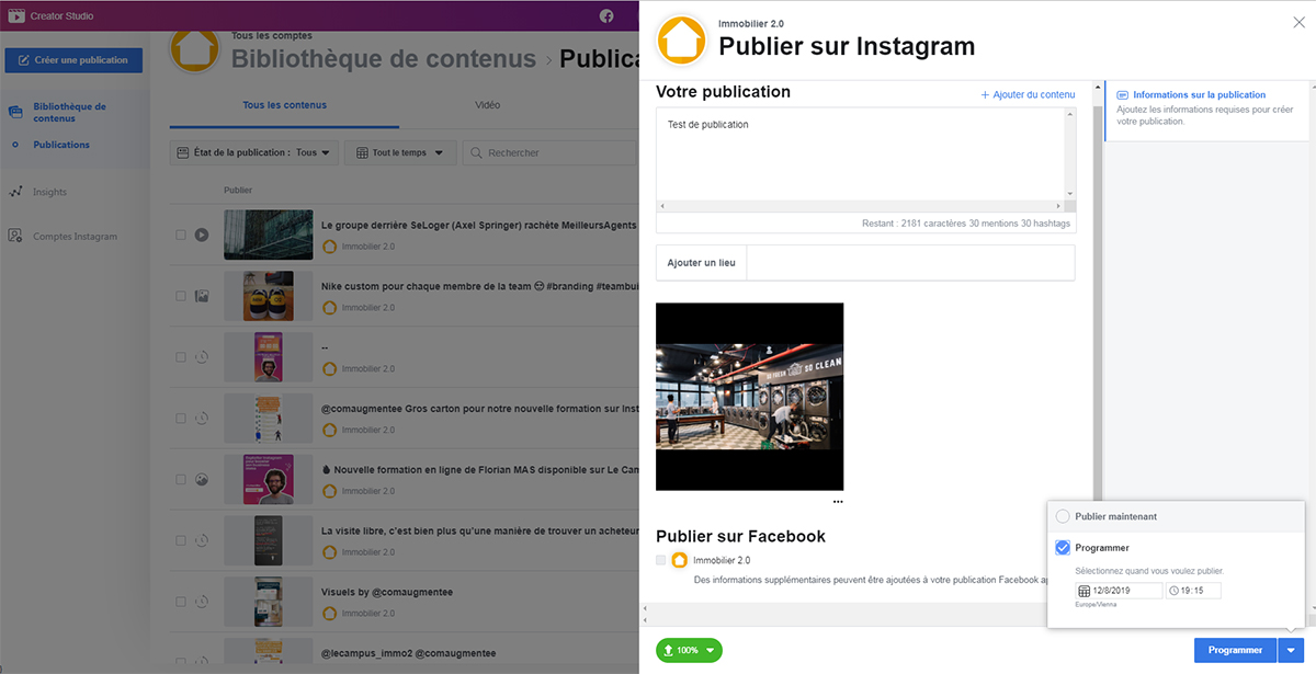Instagram Immobilier Marketing Programmer Posts