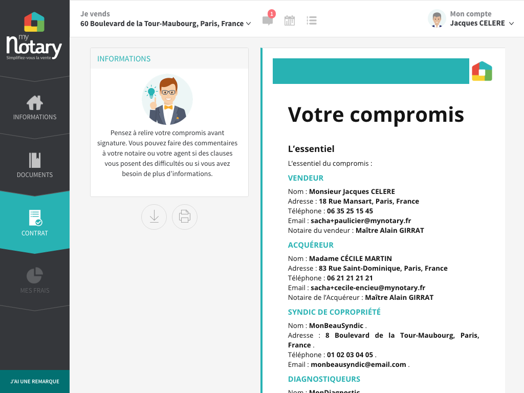 My Noary Notaire Numerique Dematerialiser Agence Immobiliere Startup