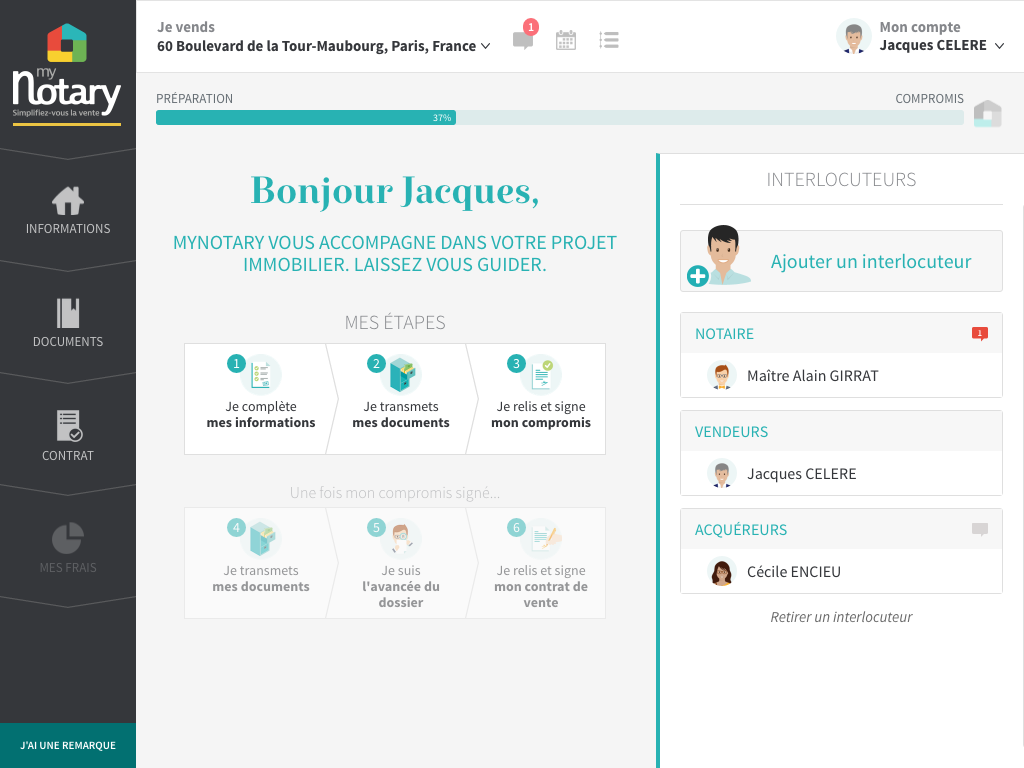 Mynotary Dematerialisation Immobilier Notaire Startup