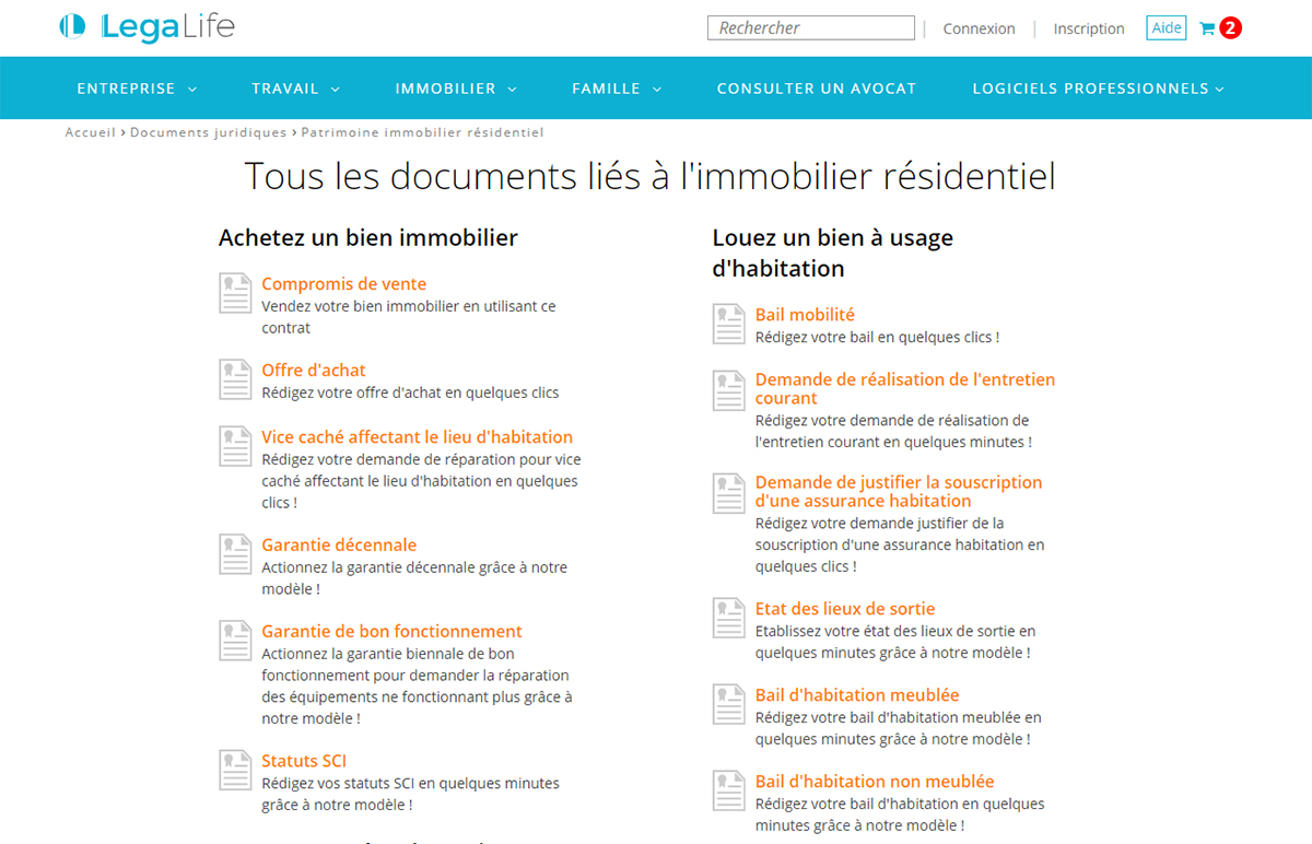 Legalife Redaction Documents Immobilier