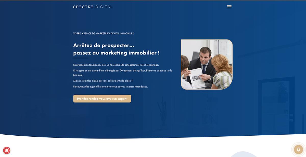 Spectre Digital Agency Agence Inbound Marketing Immobilier
