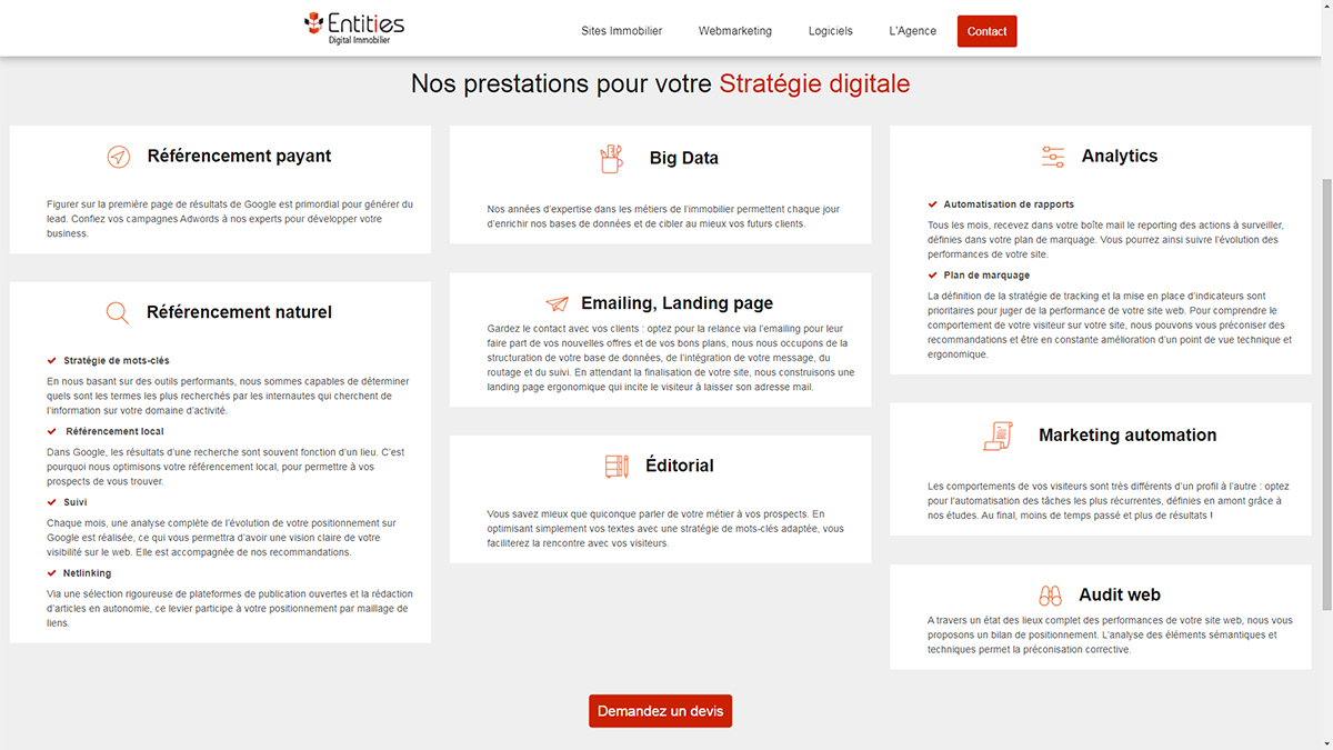 Entities Strategie Digitale Immobilier