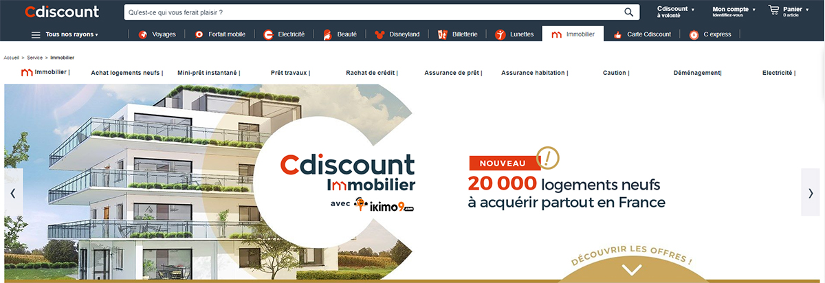 Cdiscount Immobilier Illustration