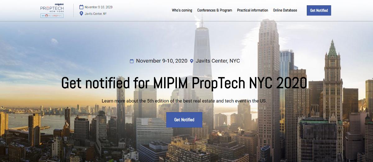 Mipim Proptech Newyork2020 Salon Immobilier
