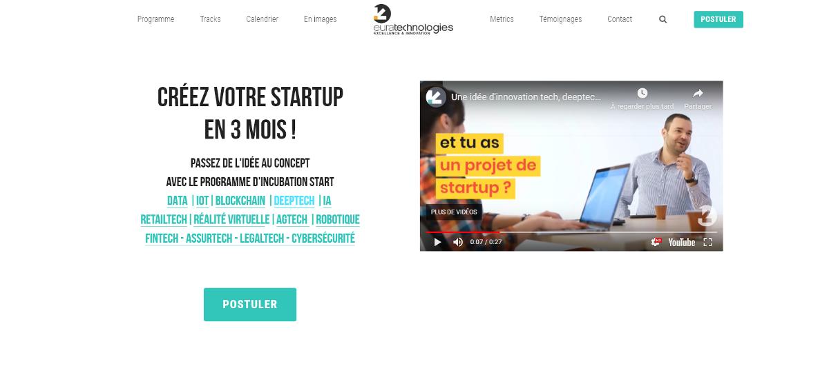 Euratechnologies Incubateur Startups Proptech Lancement