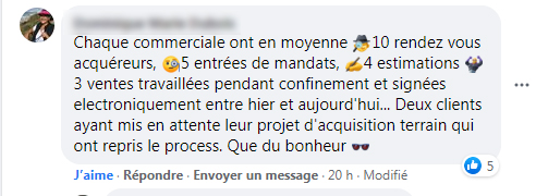 Commentaire Facebook Reprise Activite Immobiliere