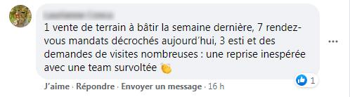 Commentaire Facebook Reprise Activite Immobiliere Joie4