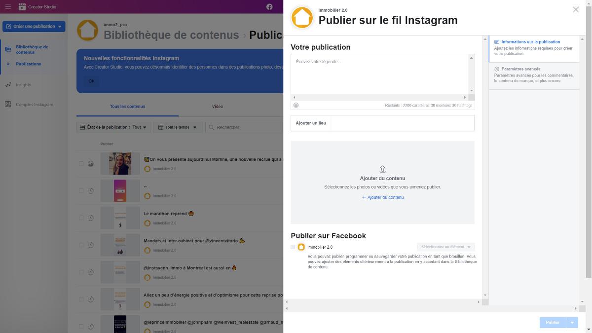 Creatorstudio Gestion Instagram Immobilier Reseaux Sociaux Communication