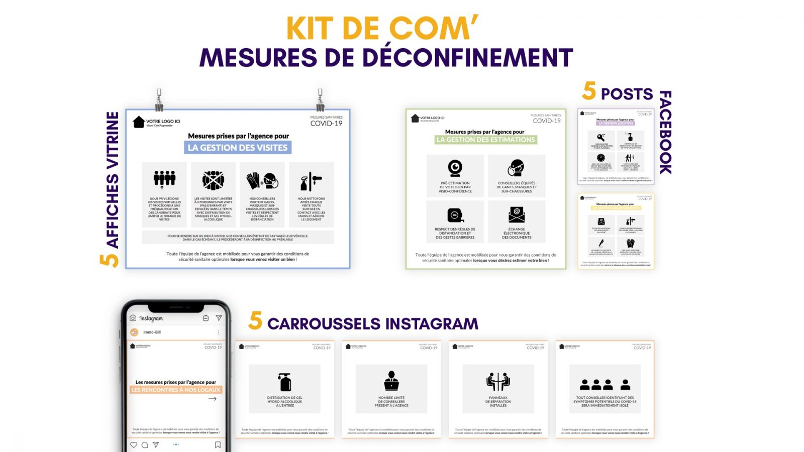 kit de com' - Mesures de Déconfinement