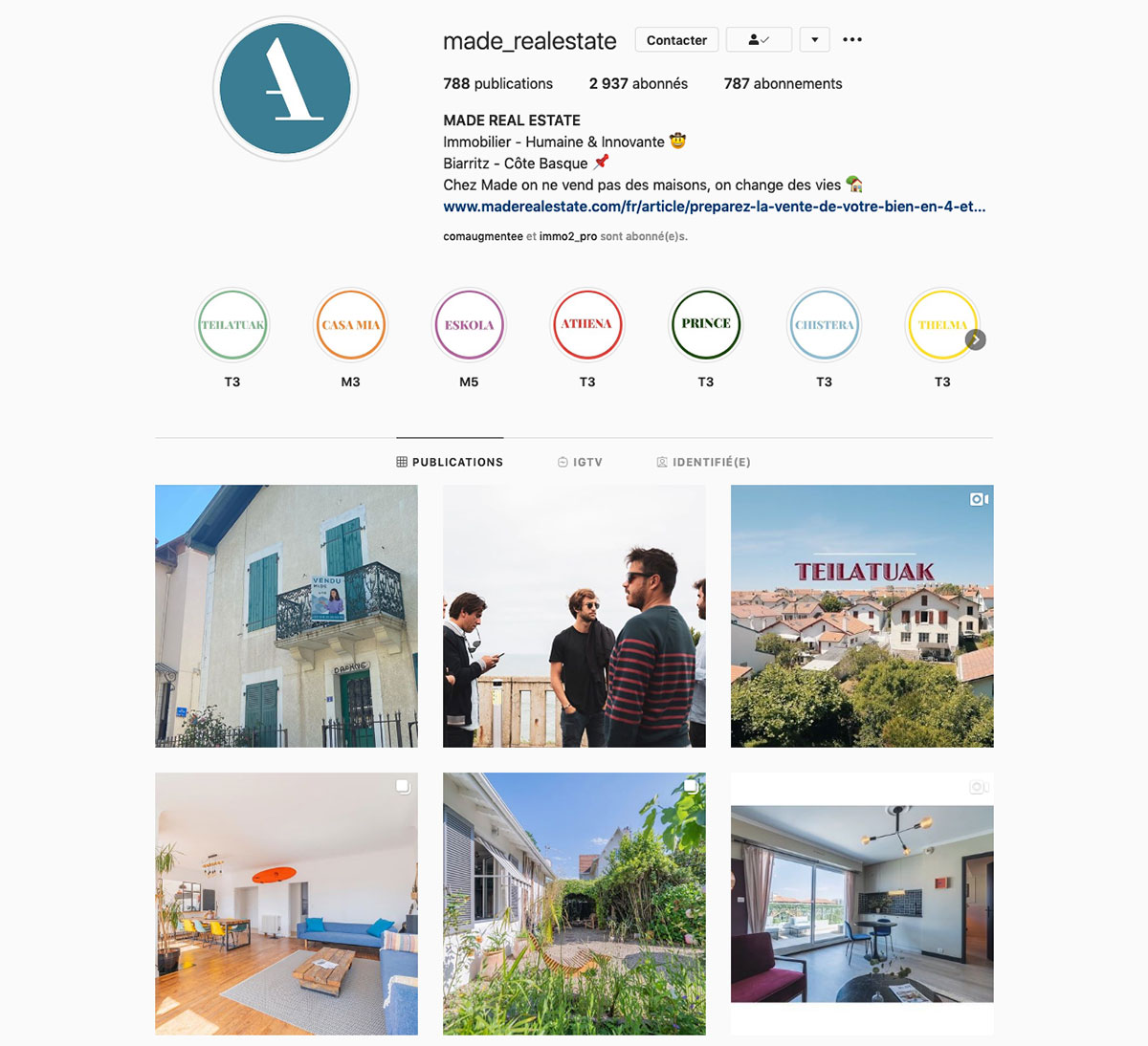 Made Real Estate Instagram Immobilier