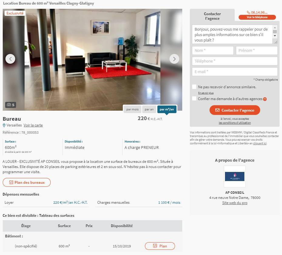 Bureaux Commerce Seloger Portail Immobilier Entreprise Annonce Illustration Annuaire Prestataires Immobilier