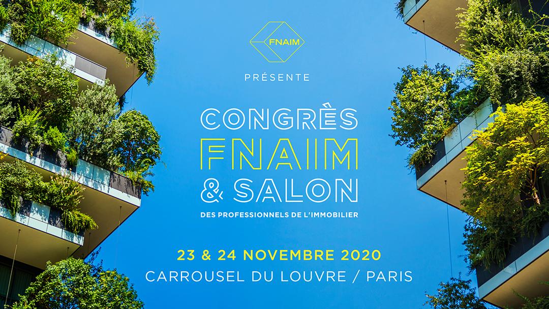 Congrès de la Fnaim 2020 - 23 et 24 novembre. Événement immobilier