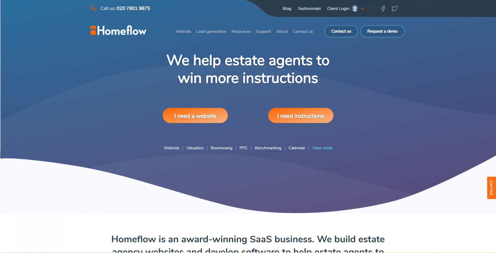 Homeflow Homepage Startup Agence De Communication Proptech