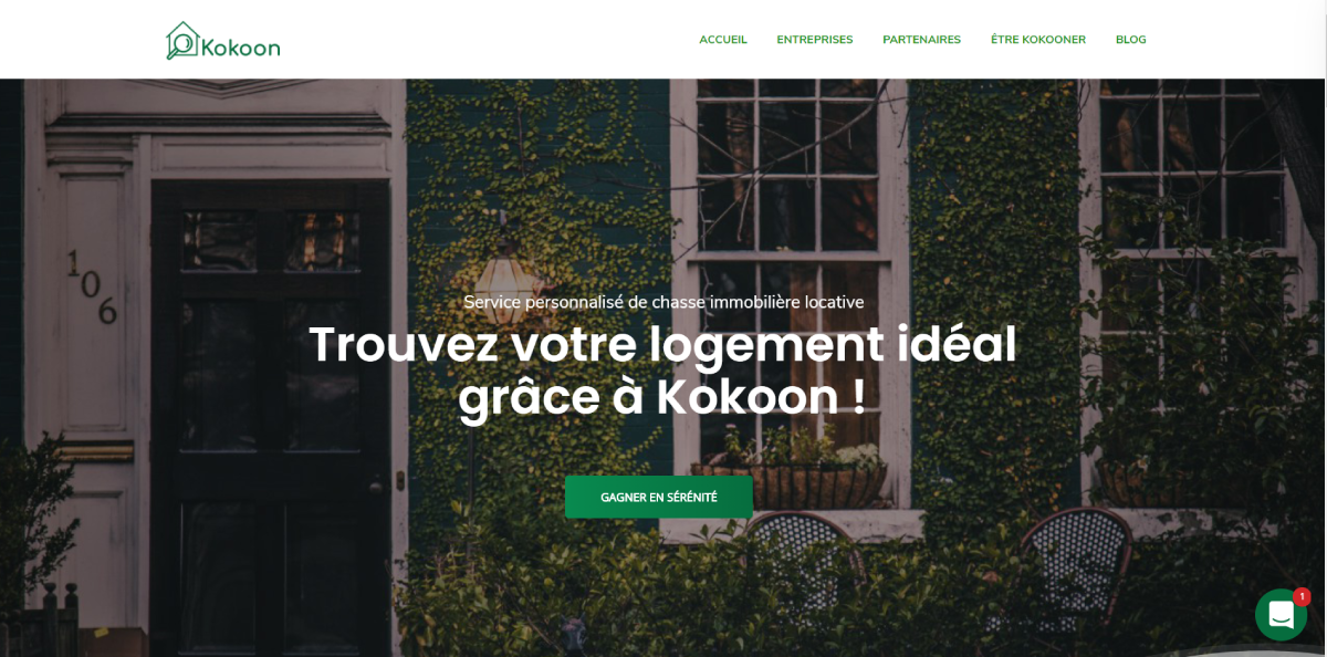 Kokoon Homepage Annuaire Startup Immobilier
