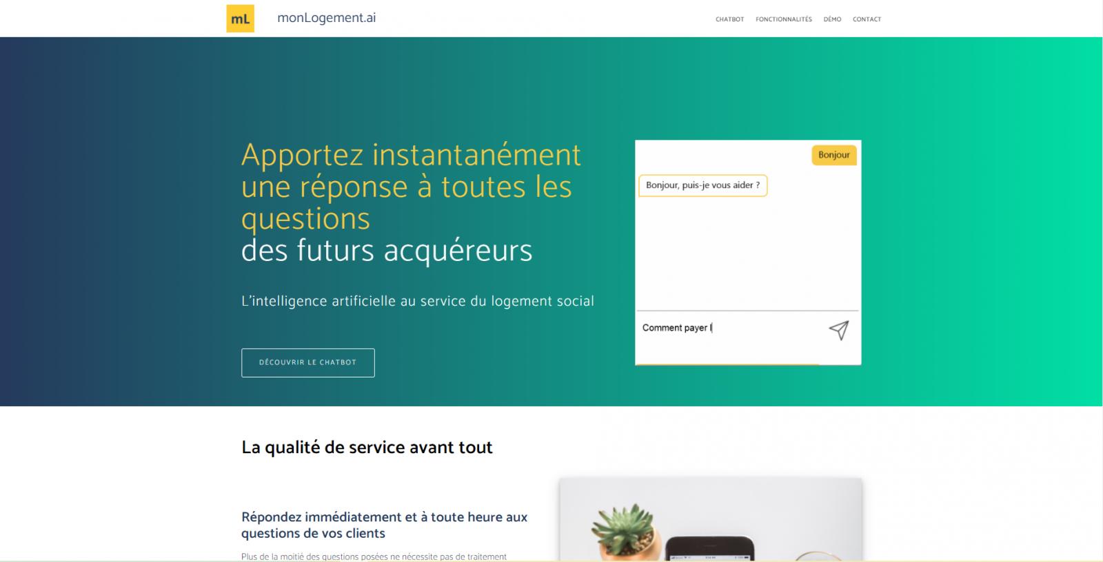 Monlogement.ai Homepage Startup Gestion Locative