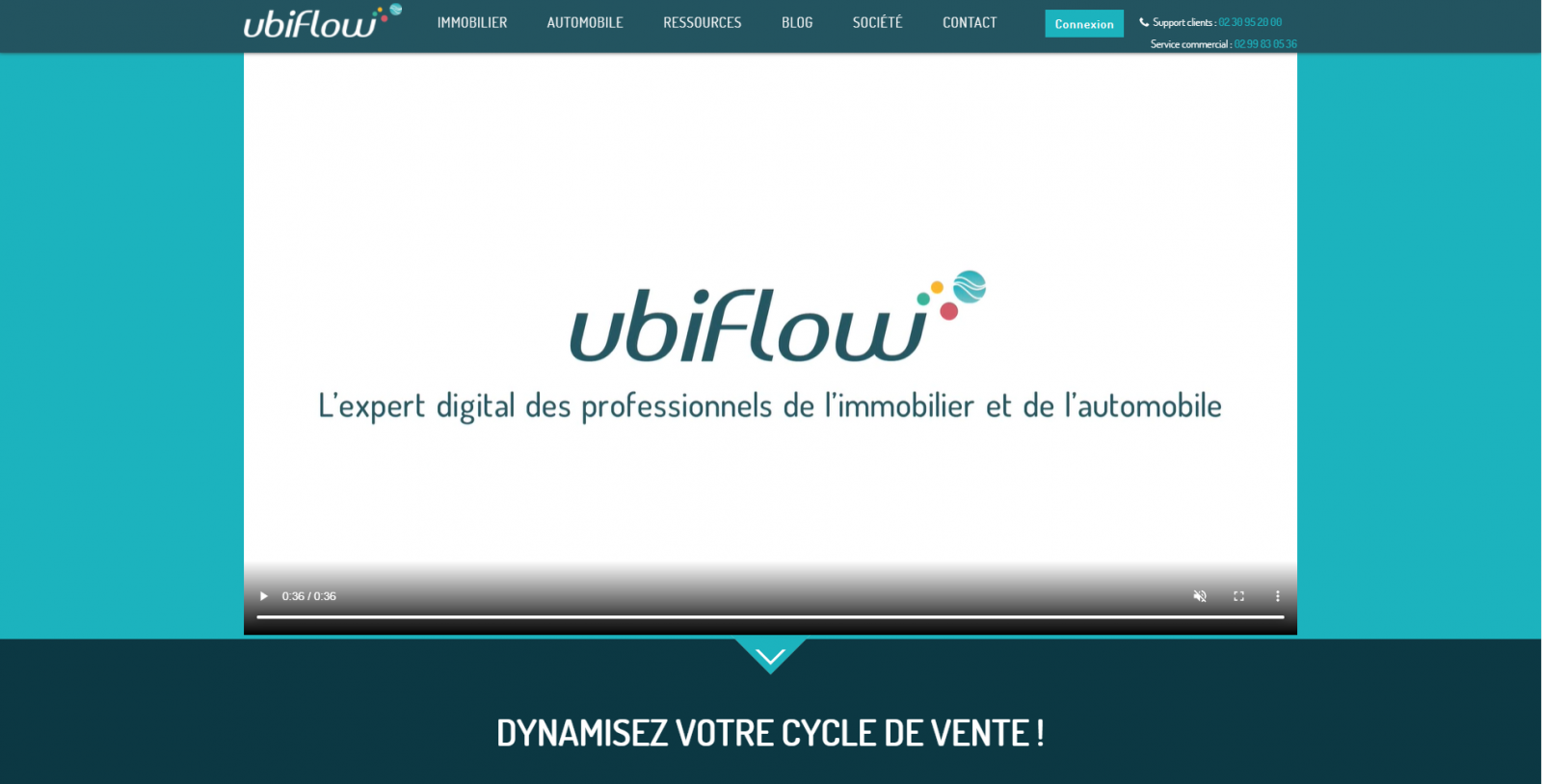 Ubiflow Homepage Immobilier Leads Proptech Digital Days
