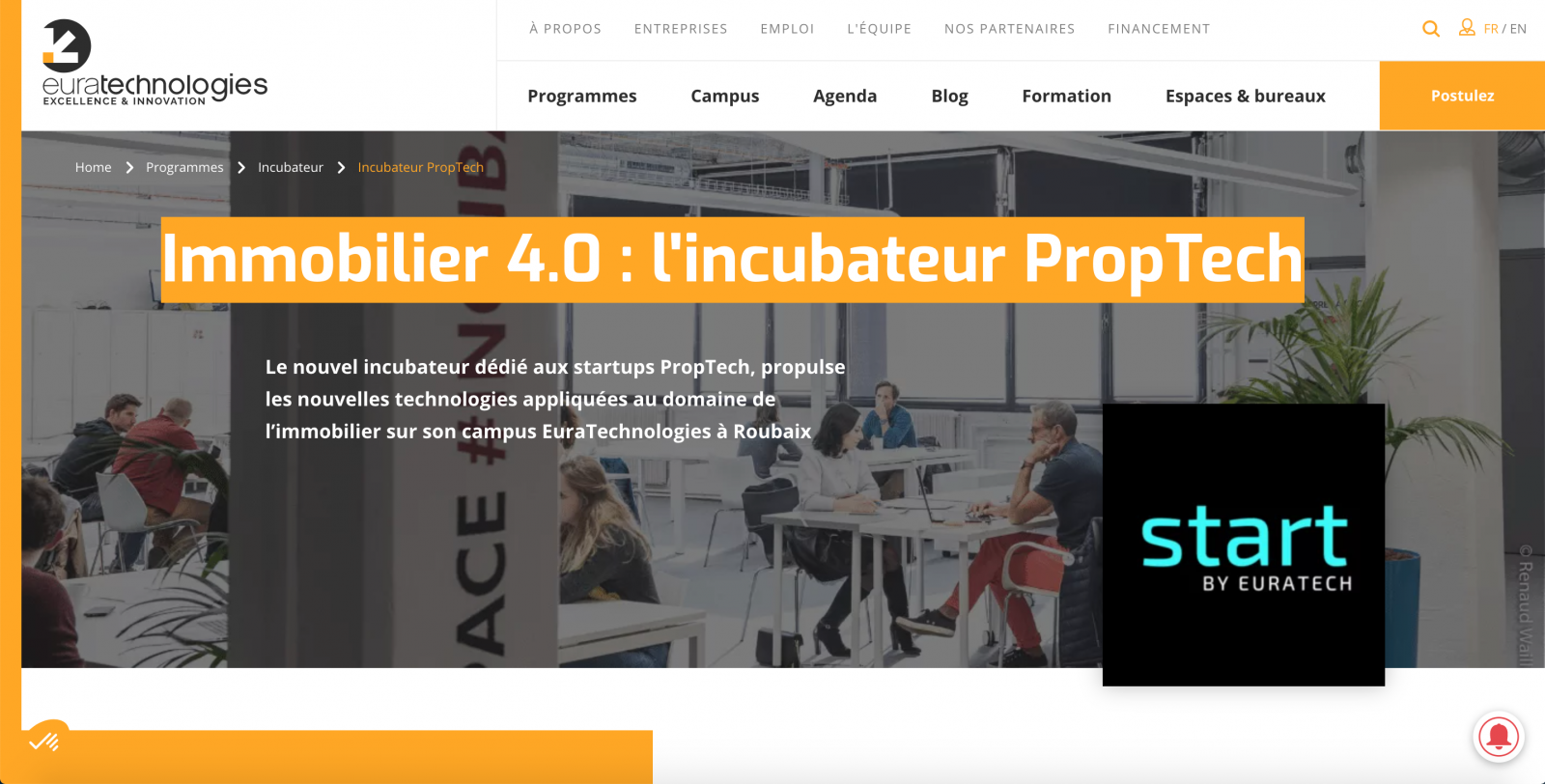 Euratechnologies Proptech Startup Immobilier