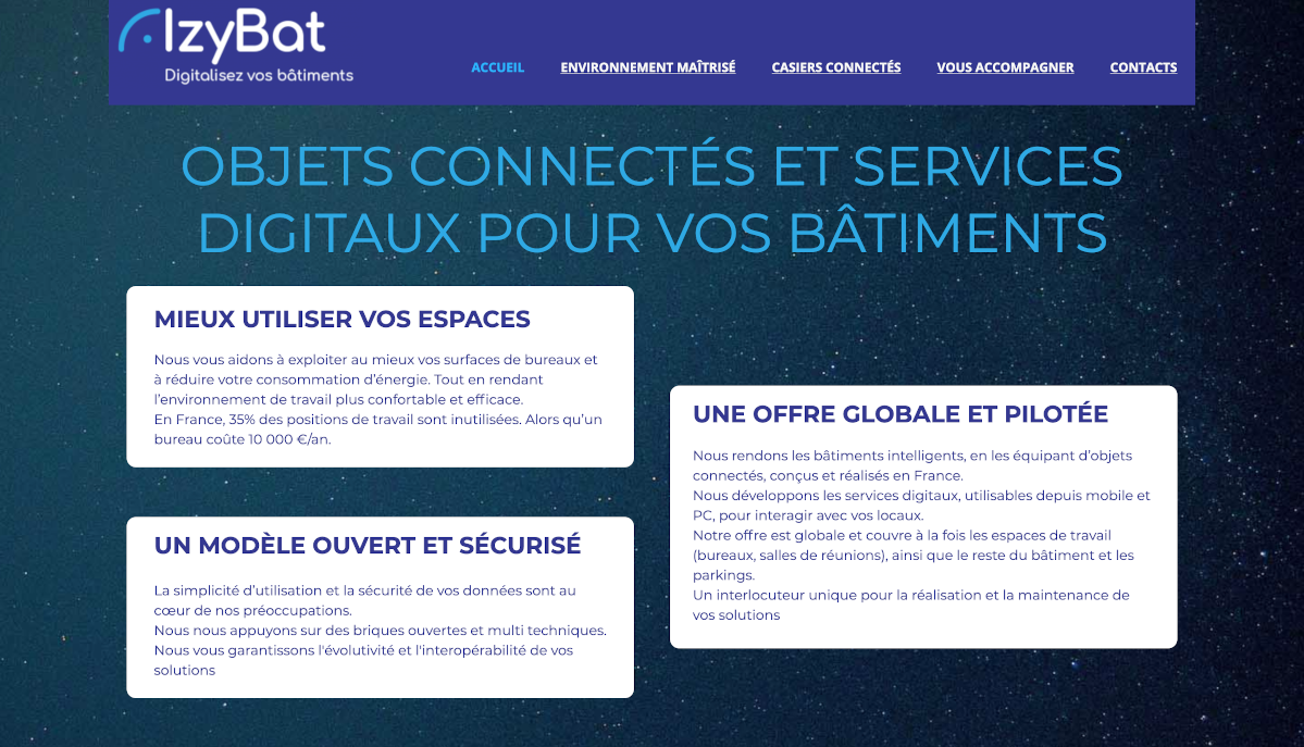 Izybat Homepage Proptech Françaises Immobilier