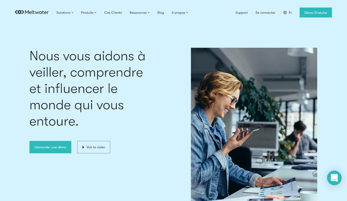 Meltwater Homepage Réseaux Sociaux La Reserve