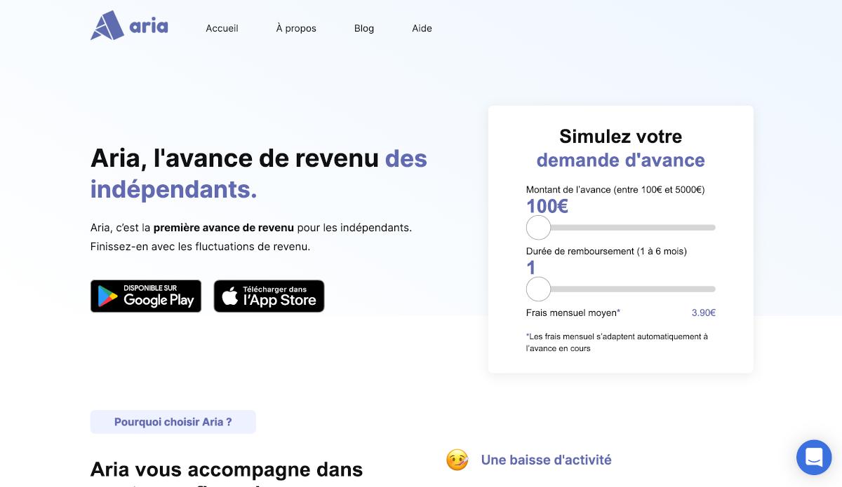 Aria Startup Avance De Revenu Solution Immobilier