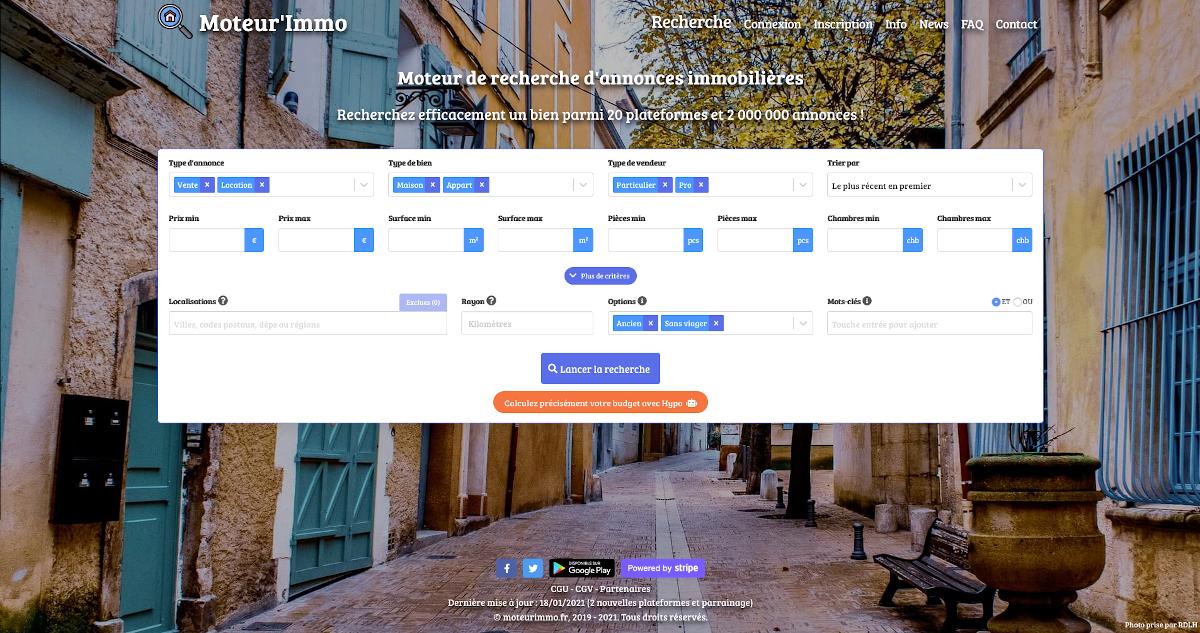 Moteurimmo Homepage Moteur De Recherche Immobilier Annuaire