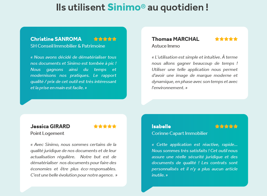 Sinimo Startup Proptech Digitalisation Service Immobilier Annuaire 1