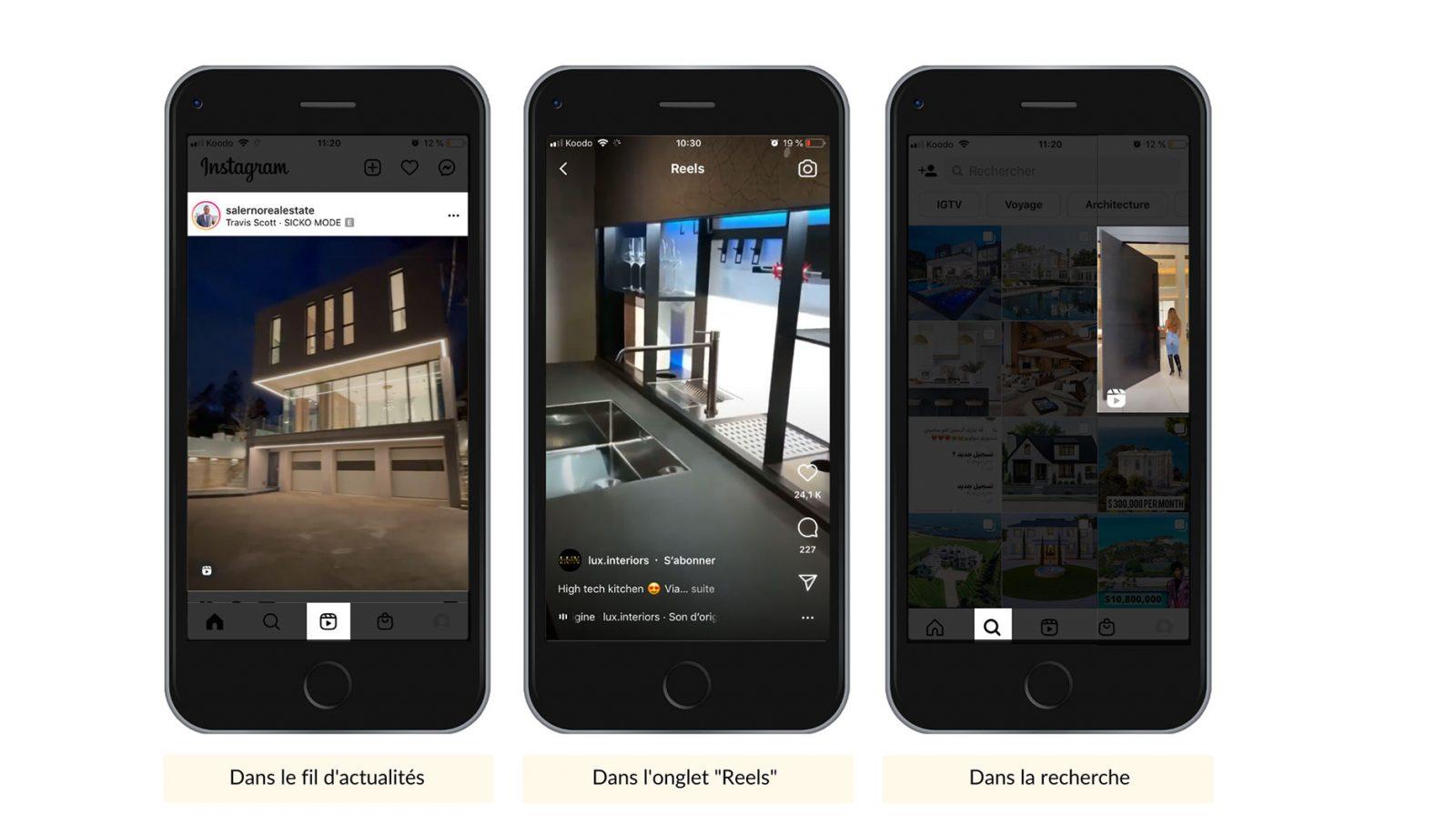 Exemples Reels Instagram Immobilier