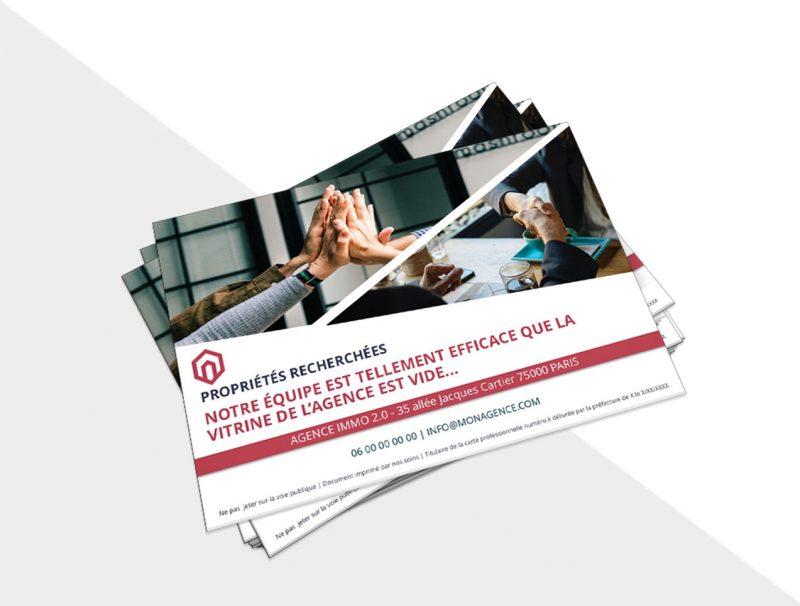 Flyer Immobilier Portrait Recherche Bien