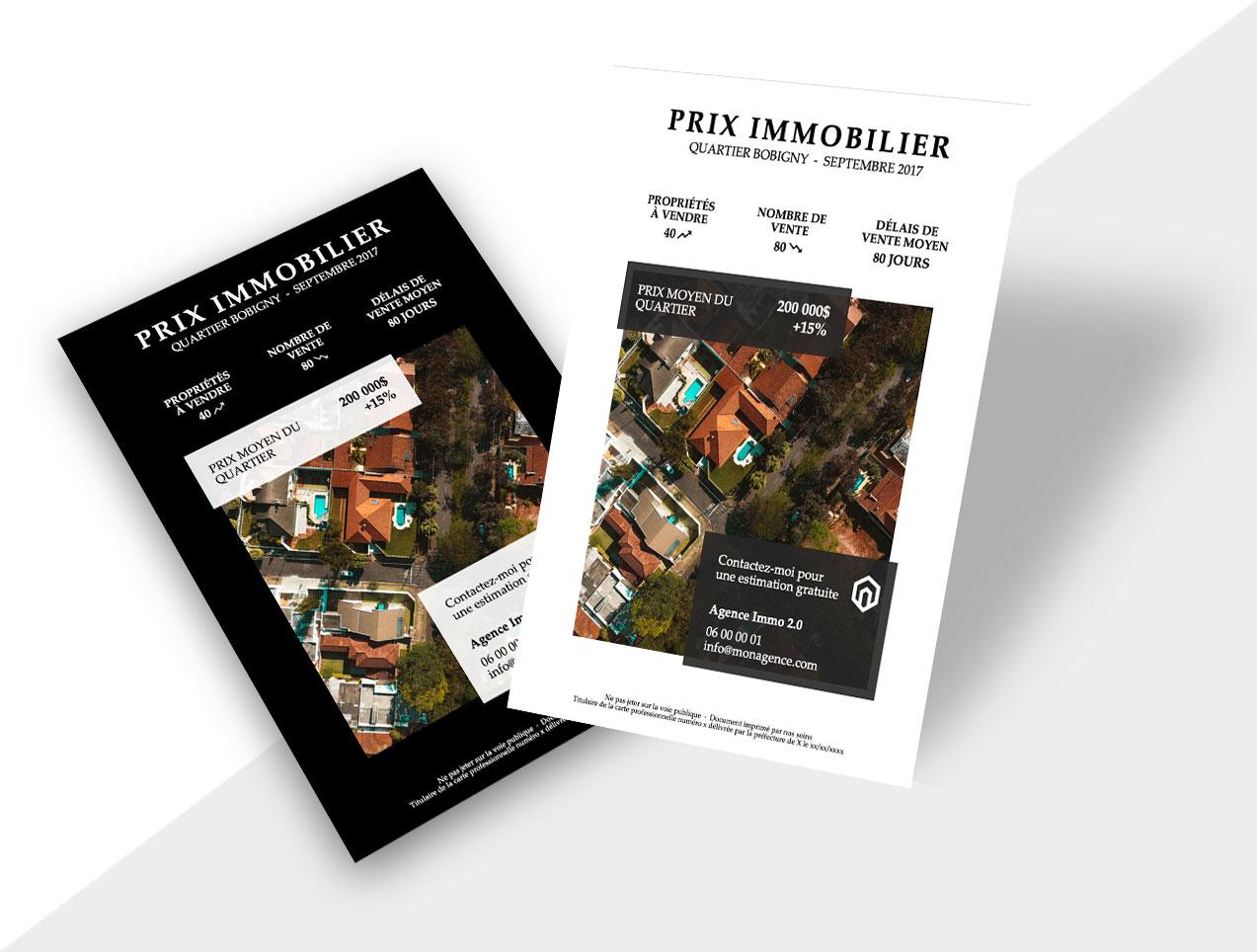 Flyer Prix Immobilier Du Marche Quartier
